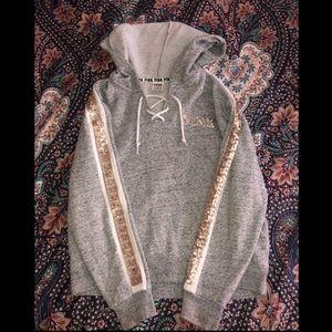 PINK Grey hoodie